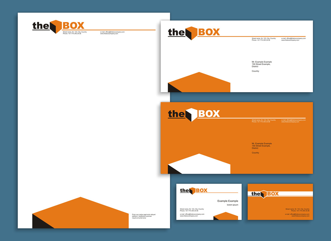 The Box - visual identity