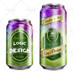 beverage cans mock up designs