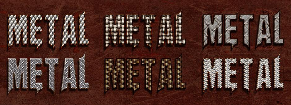 bonded metal style rusty