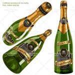 bottle champagne mock up designs