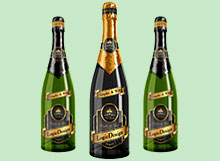 bottle champagne mock up