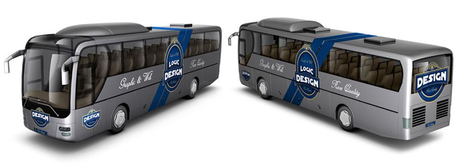 bus mock up front back design