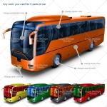 bus mock up colors