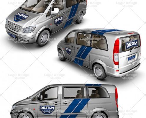 light van car mock ups