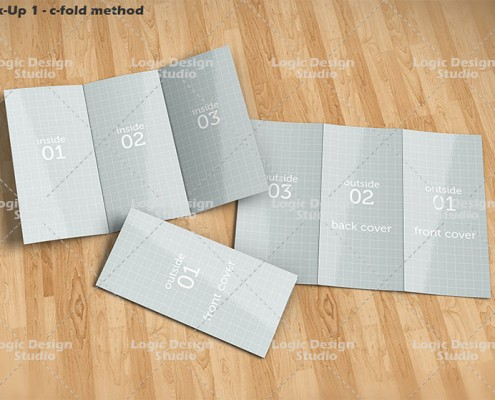 tri-fold c-fold brochure mock-up
