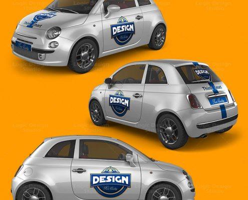 Mini Car Mock-Up v2 preview