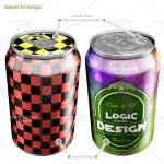 beverage cans mock up top details