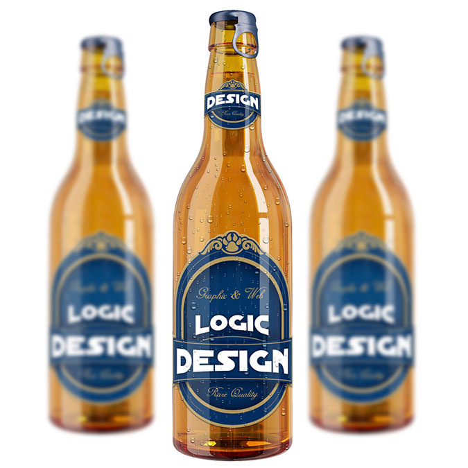 bottle beer mock up