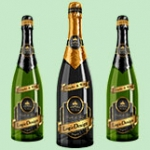 bottle champagne mock up