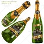 bottle champagne mock up designs