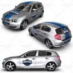 executive family car mock up designs