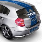 executive family car mock up back details
