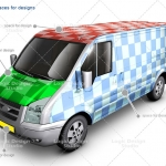 van car mock up designs