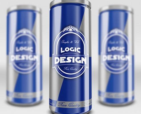 energy drink mock up