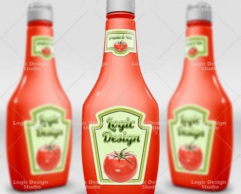 ketchup mock-up