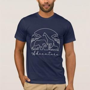 Adventure and safari in Africa - t-shirt