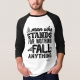 Malcom X Quote Stand and Fall - man t-shirt