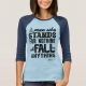 Malcom X Quote Stand and Fall - shirt