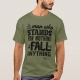 Malcom X Quote Stand and Fall - t-shirt