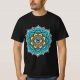 Colored Mandala With An Eye Symbol - t-shirt