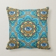 Colored Mandala With An Eye Symbol - throw pillow