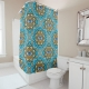 Colored Mandala With An Eye Symbol - shower curtain