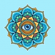 Colored Mandala With An Eye Symbol