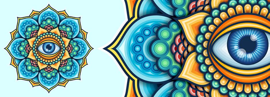 Colored Mandala With An Eye Symbol