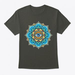 Colored Mandala With An Eye Symbol t-shirt