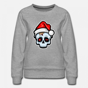 Funny Christmas Skull, Cartoon Style - shirt