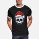 Funny Christmas Skull, Cartoon Style - t-shirt men