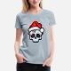 Funny Christmas Skull, Cartoon Style - t-shirt woman