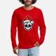 Funny Christmas Skull, Cartoon Style - shirt men