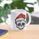 Funny Christmas Skull, Cartoon Skull - mug