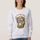 Happy Beer Mug, Cartoon Style - sweatshirt