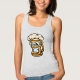 Happy Beer Mug, Cartoon Style - tank top